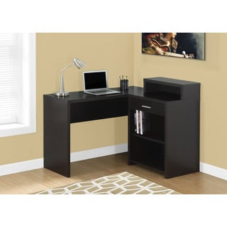 Computer Desk- Cappuccino Corner With Storage