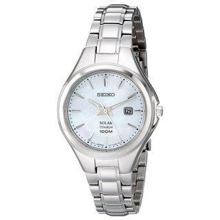 Seiko Women's Silvertone Titanium 'Core' Solar Analog Display Watch