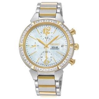 Seiko Women's Stainless Steel Core Solar Two-Tone Watch
