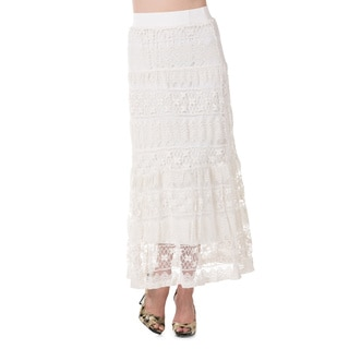 High Secret Women's Long Lace Elastic Skirt