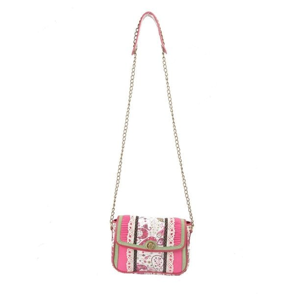 Ivory Tag Paisley Pink Crossbody Bag (India)