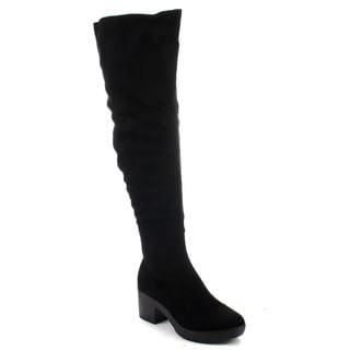 Breckelle's AVERY-15 Women's Block Heel Snug Fit Boots