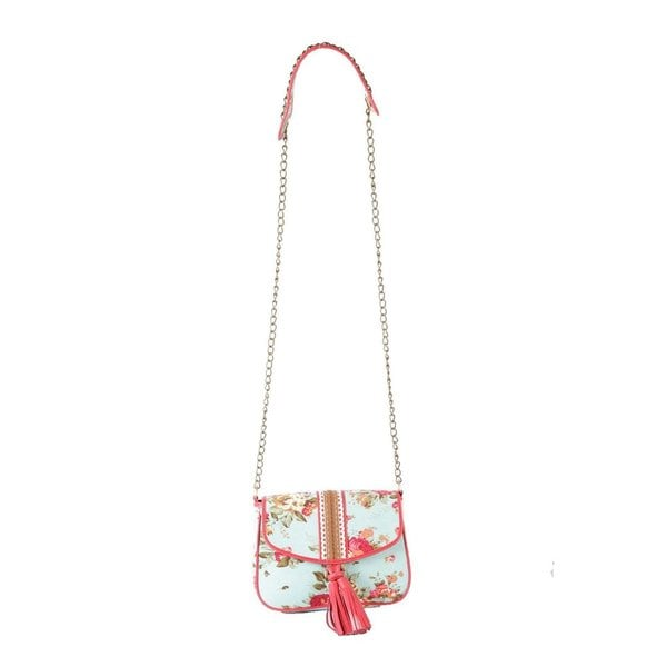 Ivory Tag Lacy Turquoise Crossbody Bag (India)