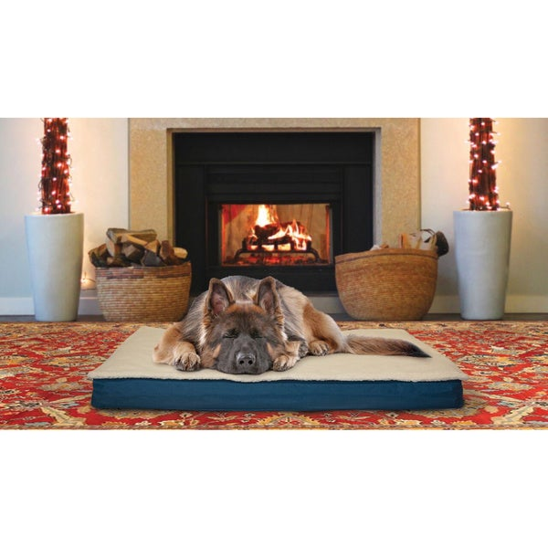 Fur Haven Deluxe Indoor Outdoor Convertible Memory Foam Pet Bed