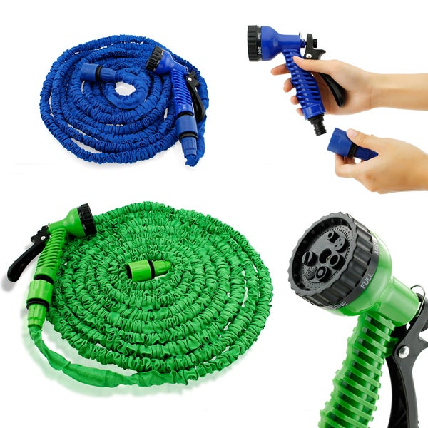 Gearonic Expandable Flexible Stronger Garden Water Hose Spray Nozzle