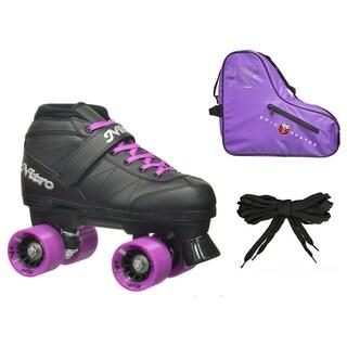 Epic Super Nitro Purple Quad Speed Roller Skates Package