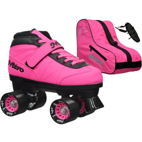 Epic Nitro Turbo Pink Quad Speed Roller Skates Package