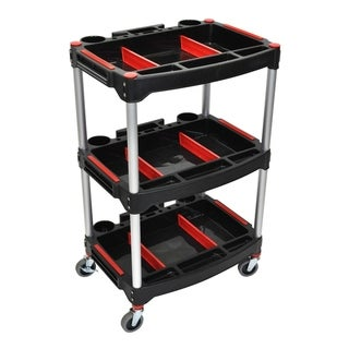 Luxor 3 Shelf Mechanics Cart 4 Casters