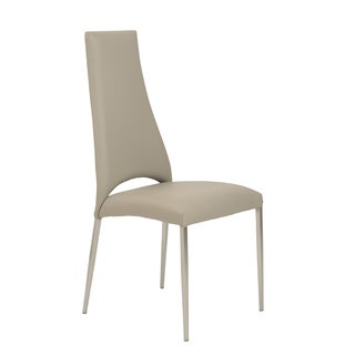 Tara Taupe/Brushed Stainless Side Chair (Set of 4)