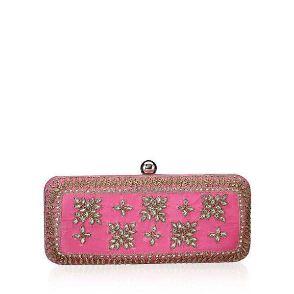 Jasbir Gill JG/SL/CL136 Pink Leather Clutch (India)
