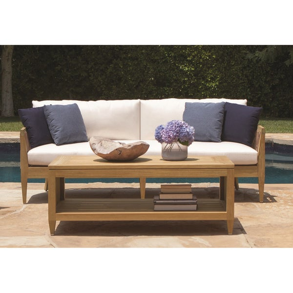 Brown Jordan Marin Wood Outdoor Sofa