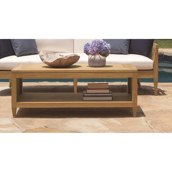 Brown Jordan Marin Wood Coffee Table