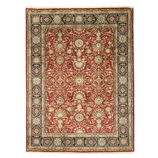 EORC 9179 Sarouk Red Hand-knotted Wool Rug (8'11 x 12')