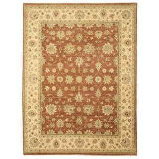 EORC 9044 Jaipur Rust Hand-knotted Wool Rug (9' x 11'11)