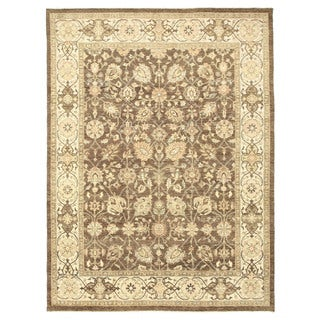 EORC 9124 Agra Brown Hand-knotted Wool Rug (8'11 x 12')