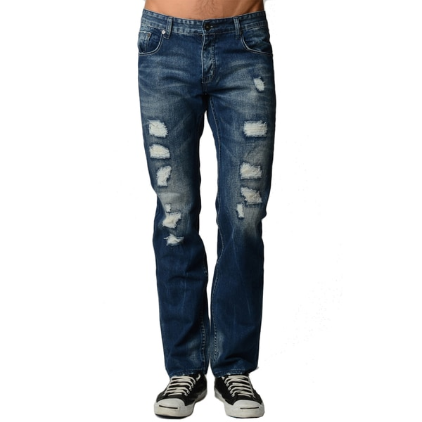 Dinamit Men's Distressed Blue Jeans
