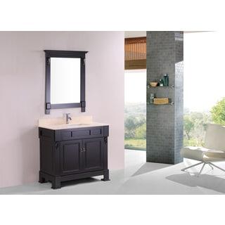 Fresca Livello 30 Inch Teak Bathroom Vanity And Medicine