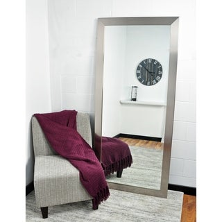 Oversized Silver Wall Mirror 32 x 71