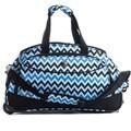 CalPak 'Plato' Blue Chevron 21-inch Carry-on Rolling Duffel Bag