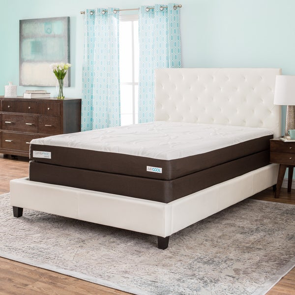 ComforPedic from BeautyRest 8-inch Twin-size Memory Foam Mattress Set