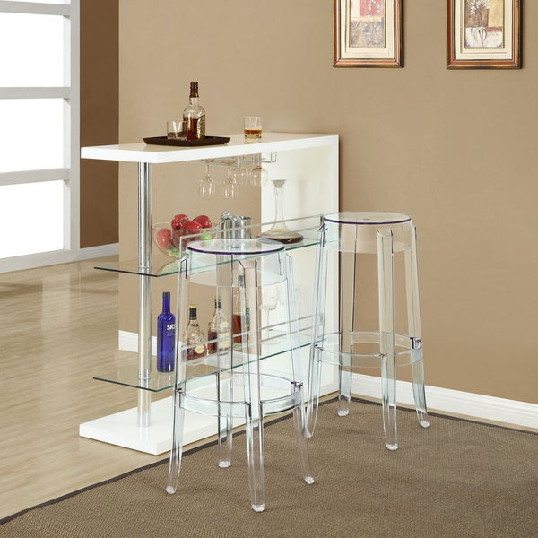 Evoke Clear Bar Chairs (Set of 2)