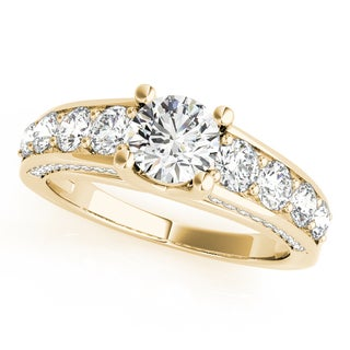 14k Gold Trellis Diamond Engagement Ring w/ Side Accents 2.83ct (G-H, SI1-SI2)