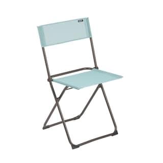 Lafuma Anytime Brown Steel Folding Chair (Set of 2)
