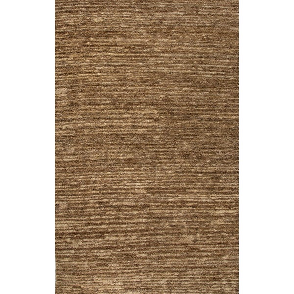 Luxury Solid Pattern Taupe/Tan Hemp Area Rug (9x12)