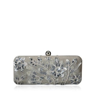 Jasbir Gill JG/SL/CL154 Grey Leather Clutch (India)