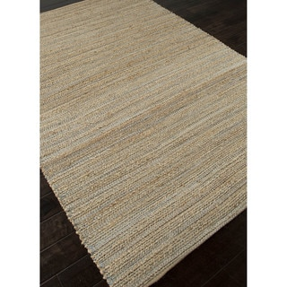 Naturals Solid Pattern Taupe/Gray Jute and Rayon Area Rug (9.6x13.6)