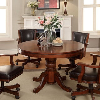Furniture of America Preston 3-in-1 Chestnut Poker Game Table