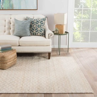 Naturals Tribal Pattern Taupe/Ivory Wool and Hemp Area Rug (9x12)