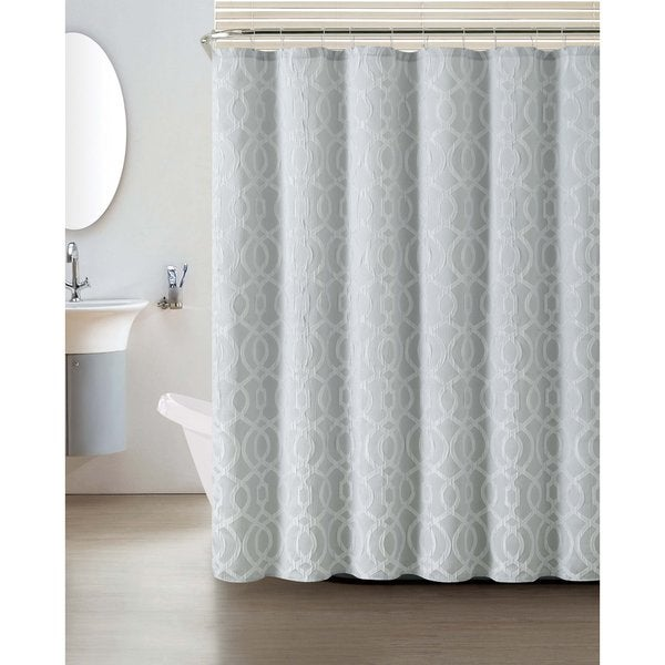 VCNY Lexington Jacquard Shower Curtain