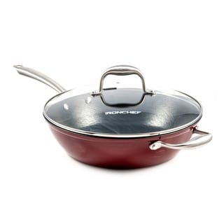 Iron Chef Flame Red Covered Skillet