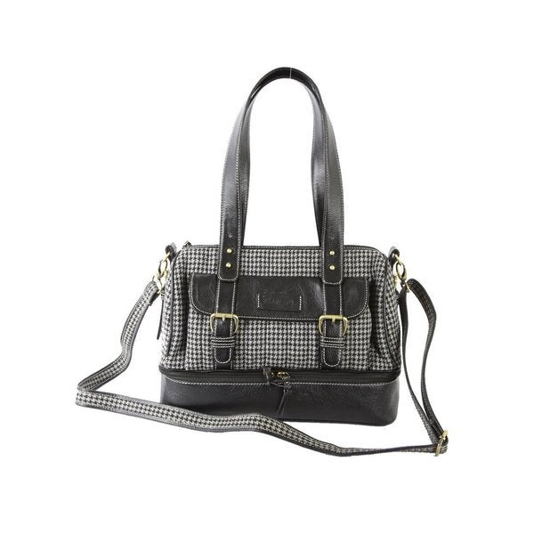 Ivory Tag Leather Weekender Handbag (India)