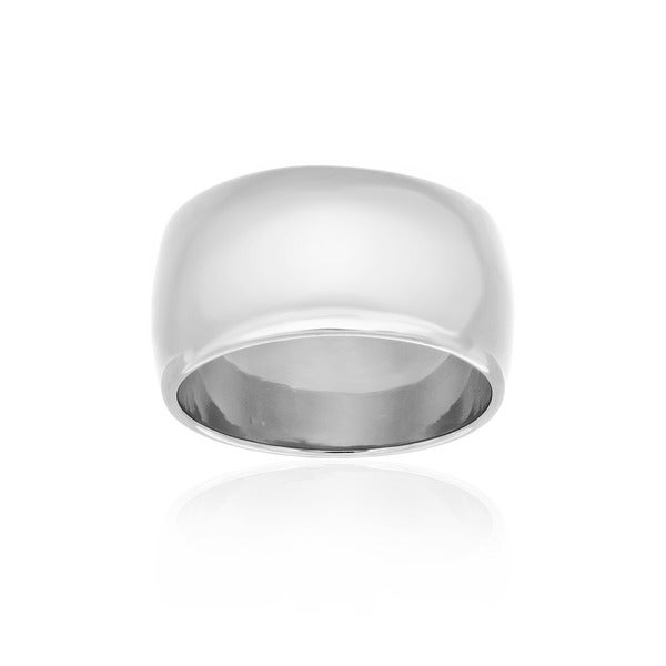 Sterling Essentials Polished 11 mm Wedding Band in Sterling Silver (sizes 6-12 )