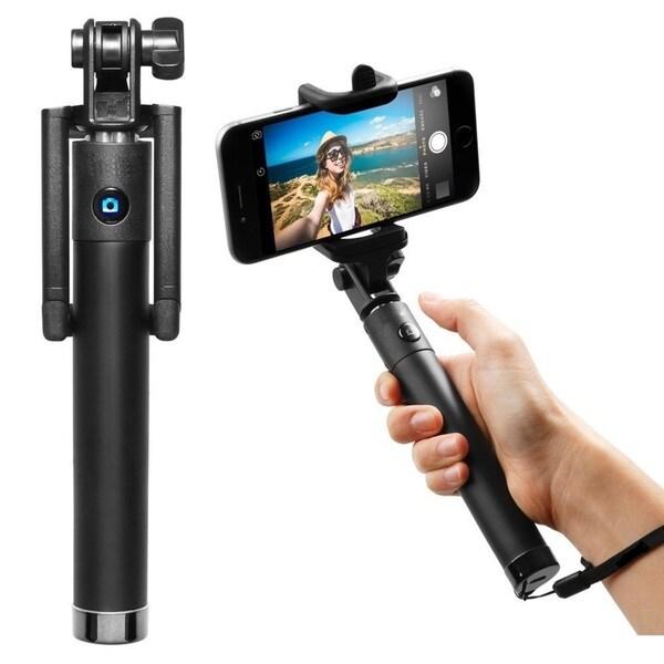 Selfie Stixx Deluxe Pocket Foldable Selfie Stick Black Edition