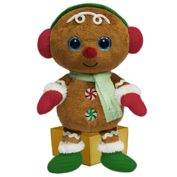 First & Main Stuffed Christmas Gingerbread Man