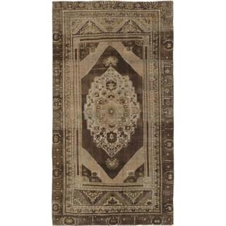 ecarpetgallery Anatolian Vintage Beige/ Green Wool Rug (4'8 x 8'7)