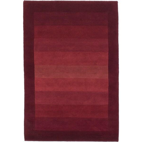 ecarpetgallery Kathmandu Red Wool Rug (4' x 5'11)