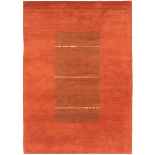ecarpetgallery Kathmandu Brown Wool Rug (5'9 x 8')