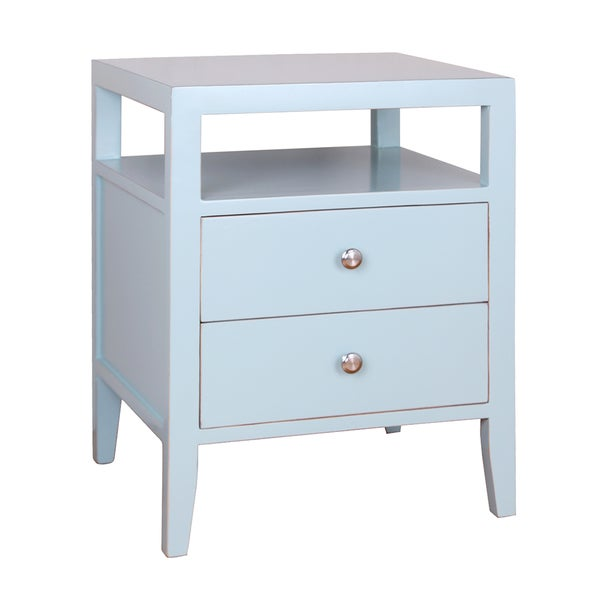 Hana 2 Drawer Lacquer End Table