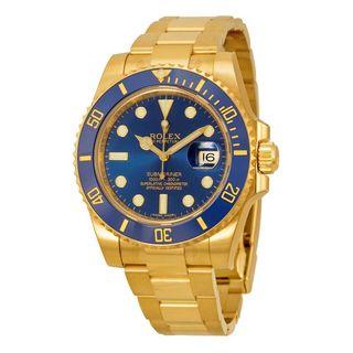 Rolex Men's Submariner Blue Dial Watch