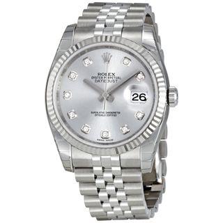 Rolex Women's Datejust White Dial Watch