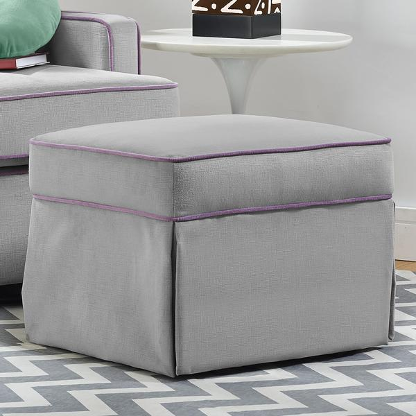 Baby Relax Grey Gliding Ottoman