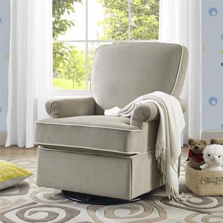 Baby Relax Barcelona Taupe Swivel Glider