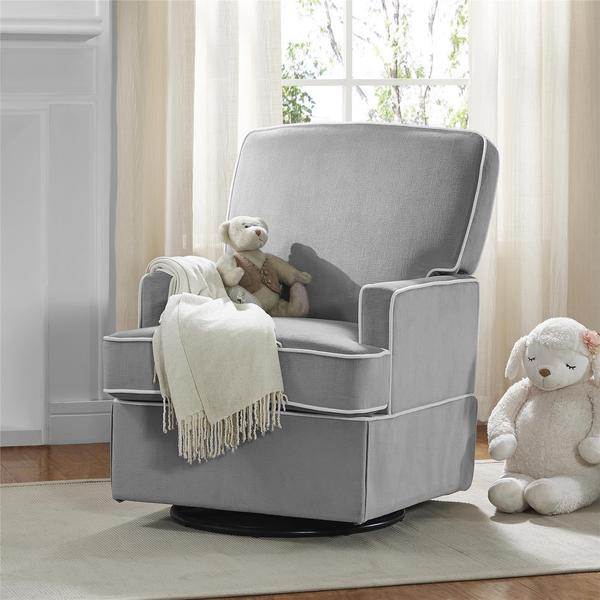 Baby Relax Lyon Graphite Grey Swivel Glider