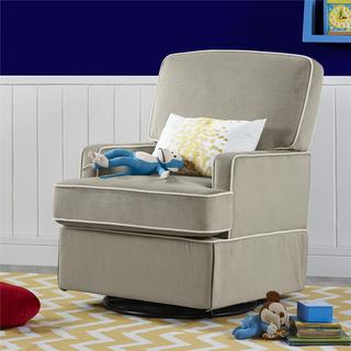 Baby Relax Lyon Taupe Swivel Glider