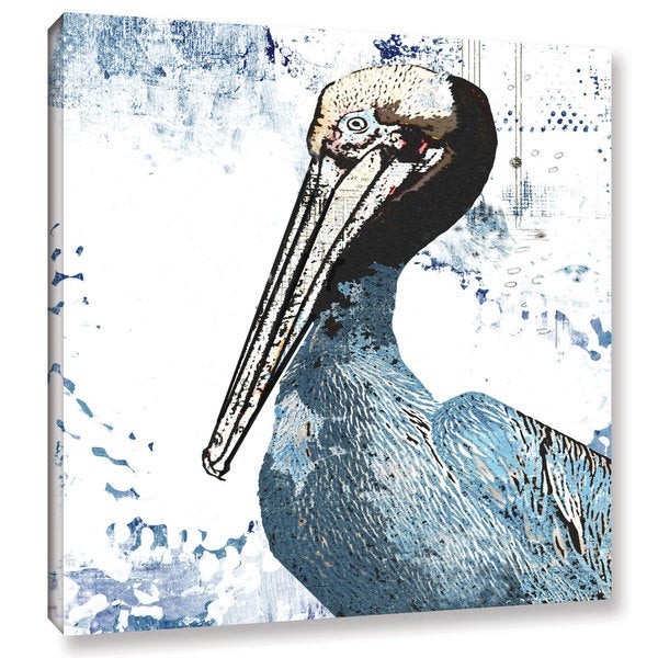 ArtWall Sarah Ogren's Blue Pelican, Gallery Wrapped Canvas