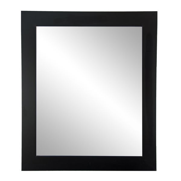 Large Black Wall Mirror 32 x 38